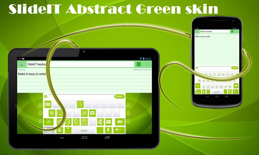 SlideIT Abstract Green Skin
