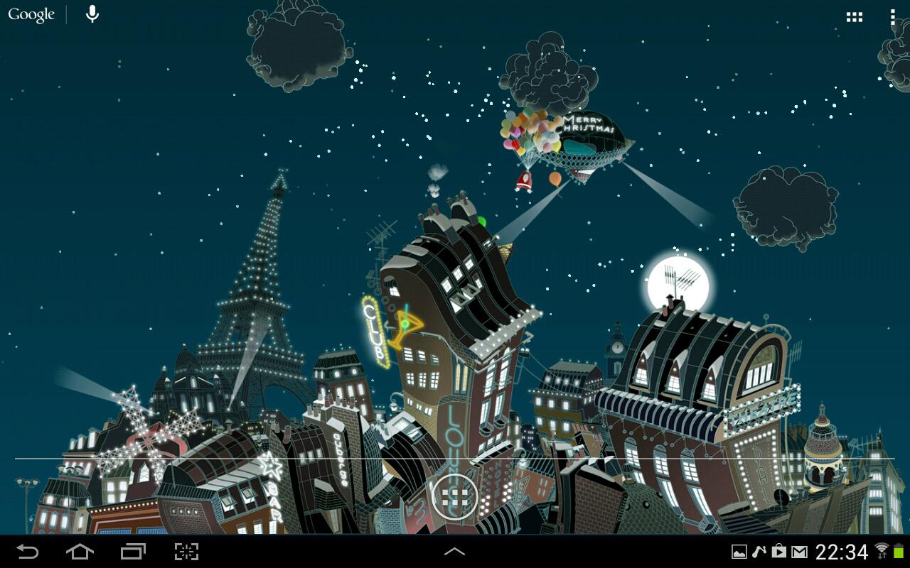 Paris winter LWP- screenshot