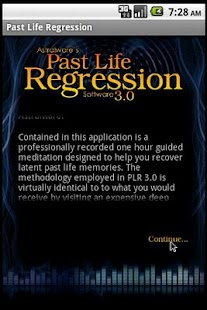 Past Life Hypnosis Software - screenshot thumbnail