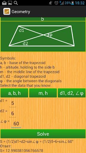 Geometry. Area. Cheatsheet.