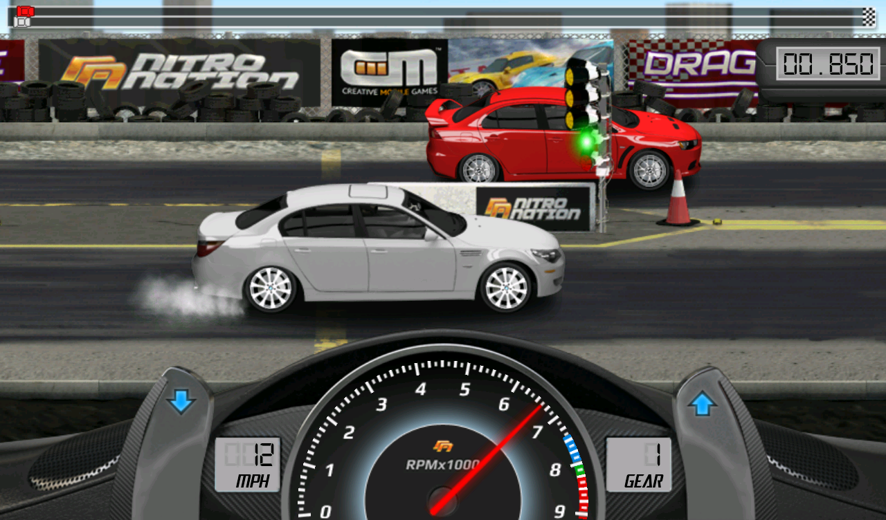 Screenshots of Drag Racing for iPhone