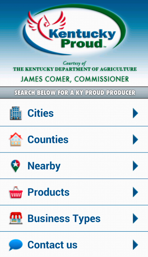 Kentucky Proud Locater - screenshot