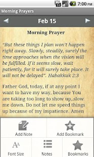 Morning Prayers Devotional - screenshot thumbnail