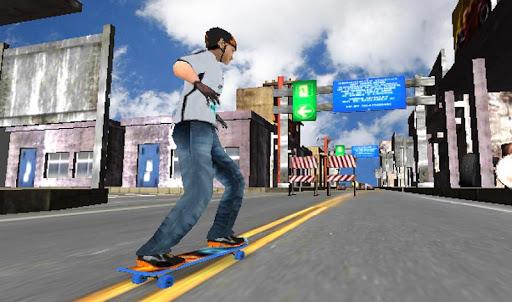Street Skater Boy Longboard