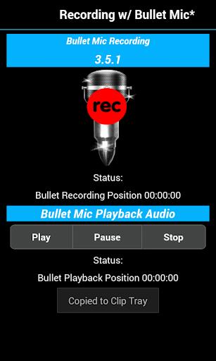 Bullet Mic Recording