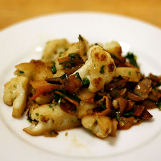Cauliflower with Bacon and Mushrooms Recipe