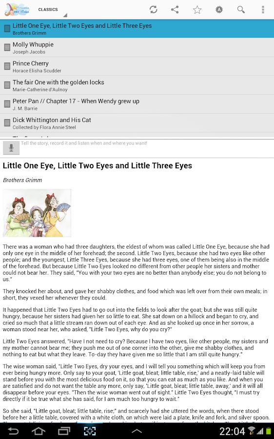 English bedtime stories [free] - screenshot