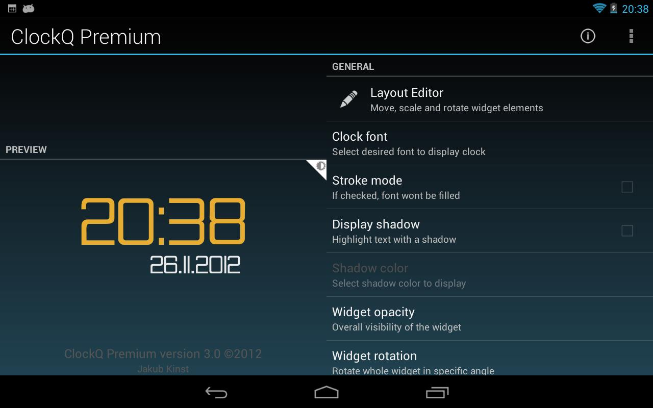 ClockQ - Digital Clock Widget- screenshot