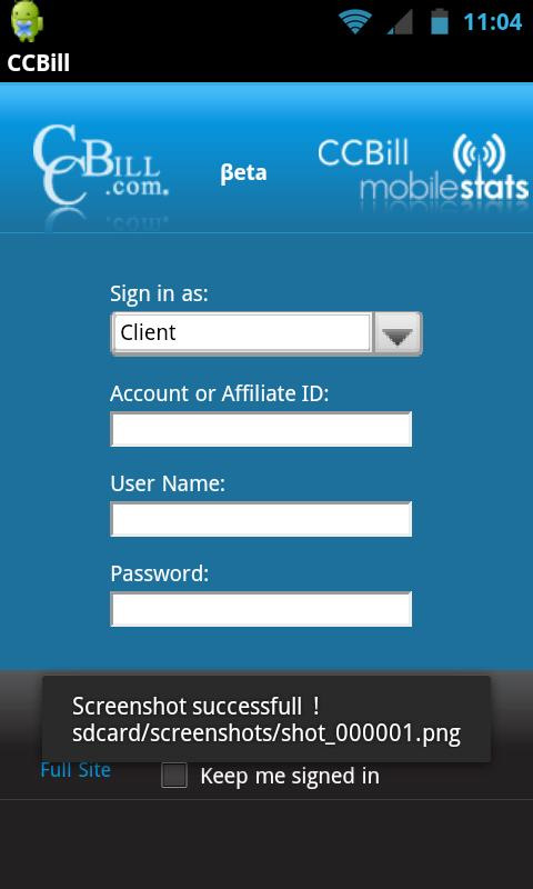 CCBill Mobile Stats - screenshot