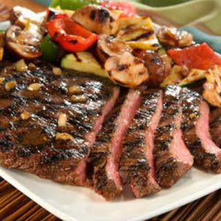 Grilled Teriyaki Steak & Vegetables.