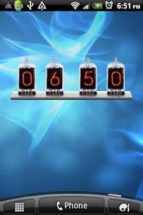 Nixie Time and Battery Widget- screenshot thumbnail
