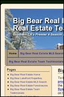 Screenshot of Big Bear Lake  Real Estate