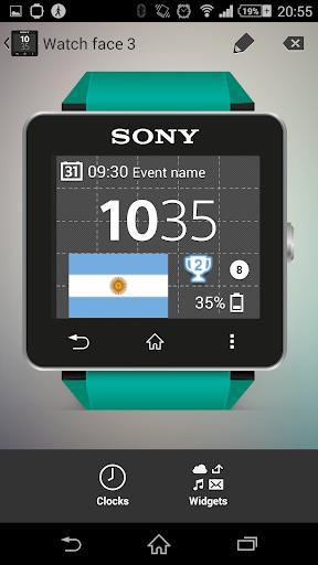 【免費個人化App】Watchface Argentina (Sony SW2)-APP點子