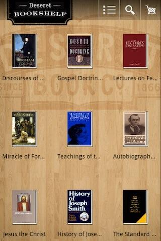 Deseret Bookshelf LDS e-reader - screenshot