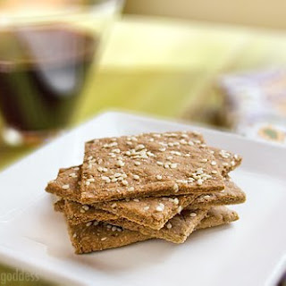 Garlic and Sesame Gluten-Free Cracker