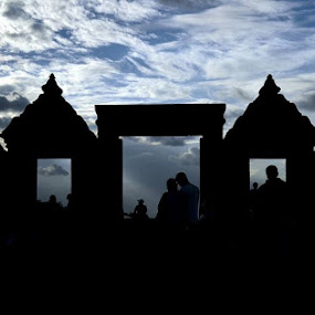 Almost twilight at Ratu Boko  by Rafael Jatiaji - Buildings & Architecture Statues & Monuments