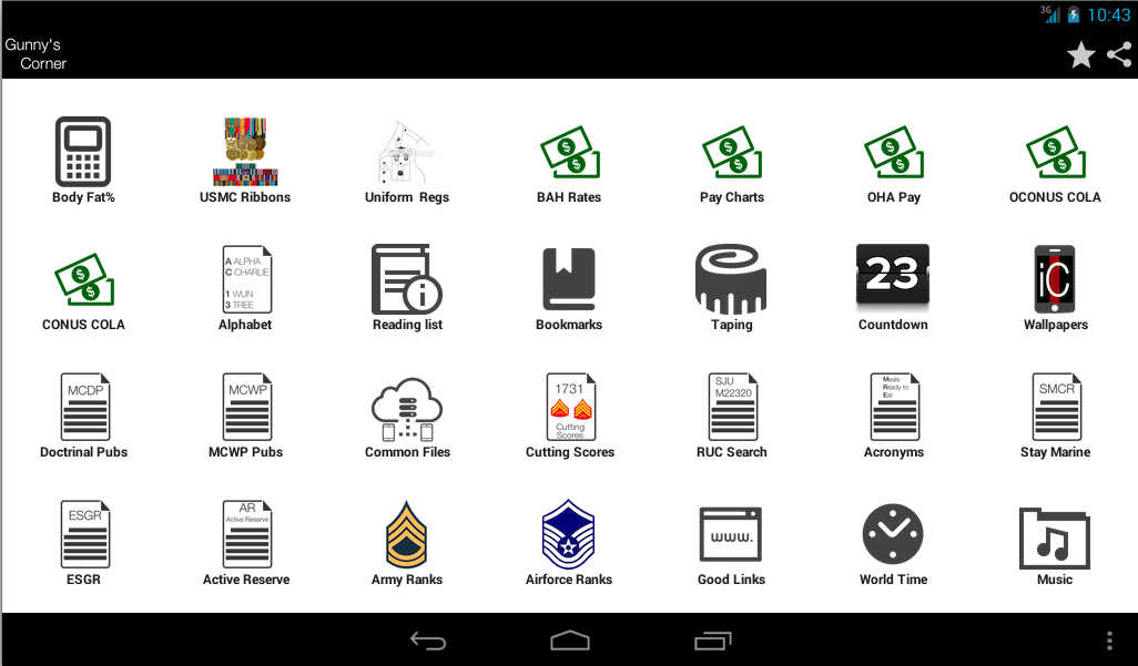 iCorps: Pocket Reference- screenshot
