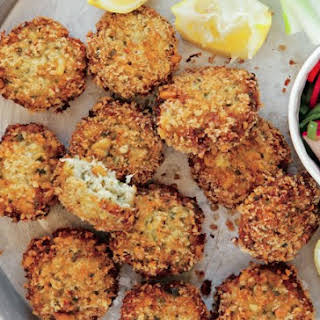 Crispy Fish Cakes With Pine Nuts.