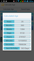 Screenshot of Easy Age Calculator
