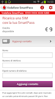 Screenshot of Vodafone SmartPass