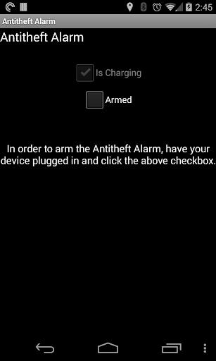 Antitheft Alarm