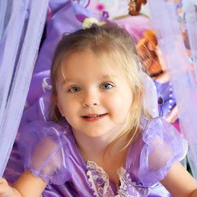Pretty in Purple by Luanne Bullard Everden - Babies & Children Child Portraits ( purple, grandchildren, children, portraits, toddlers, smiles,  )
