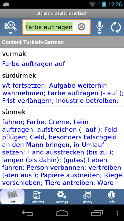Standard Türkisch - screenshot