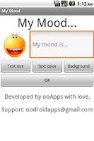 Screenshot of My Mood