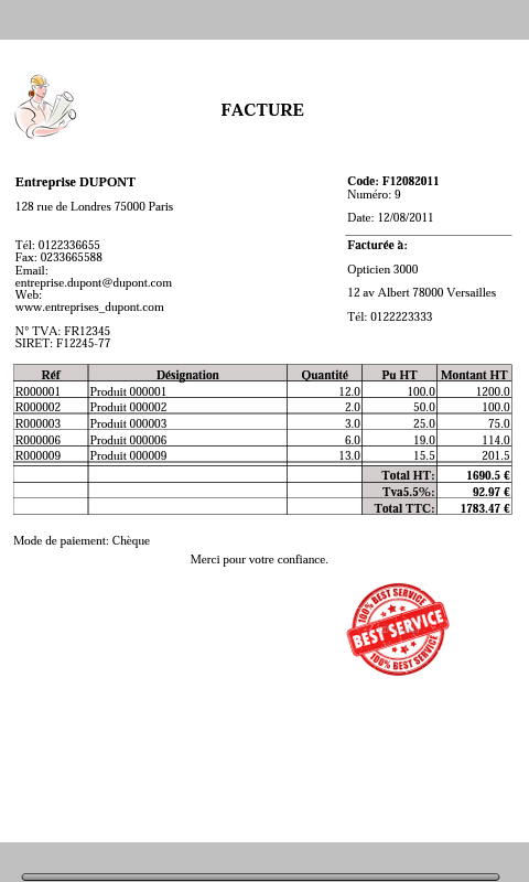 make an invoice in word