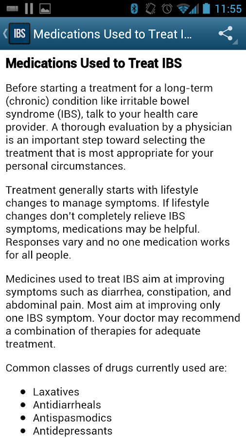 IBS and CC info from IFFGD - screenshot