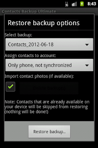 Contacts Backup Ultimate Full screenshot 3