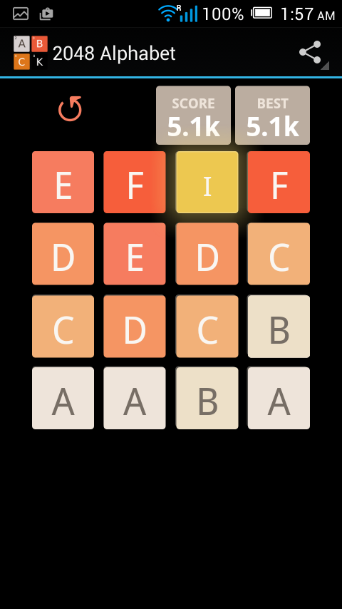 2048 Alphabet- screenshot