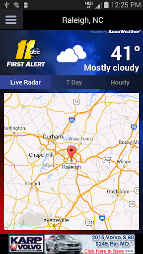 ABC11 First Alert Doppler XP screenshot