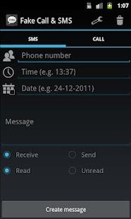 Fake Call & SMS- screenshot thumbnail