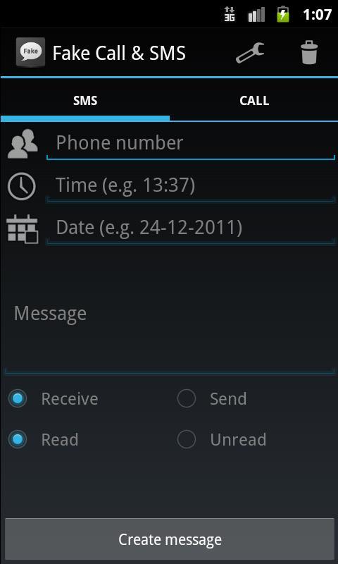 Fake Call & SMS- screenshot