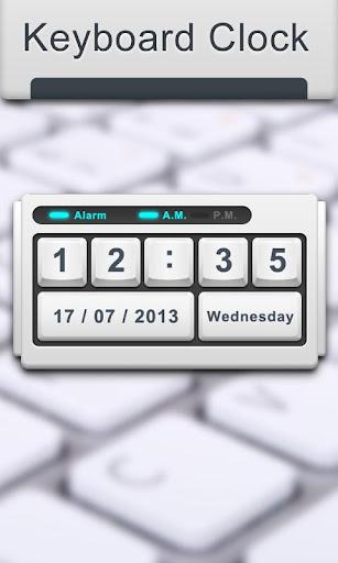 Keyboard - Clock widget
