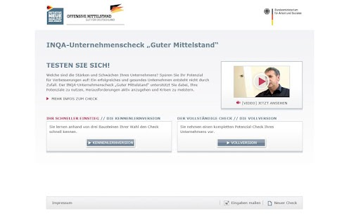 INQA-Unternehmenscheck- screenshot thumbnail