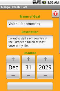 Mango Goal Organizer - screenshot thumbnail