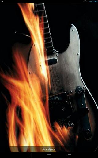 Guitar Enveloped in Flames LWP