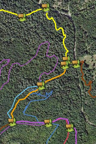 Burke Vermont Bike Trail Map- screenshot