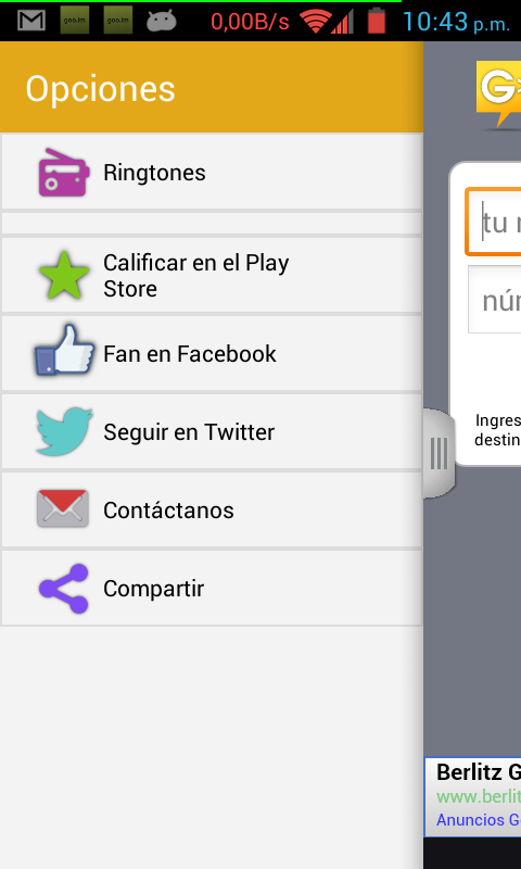 GUATEwebMessenger - Free SMS- screenshot