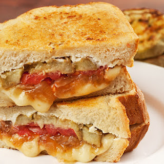 Roasted Eggplant and Caramelized Onion Grilled Cheese Recipe