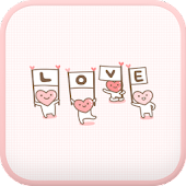 LOVE(Pink) go launcher theme