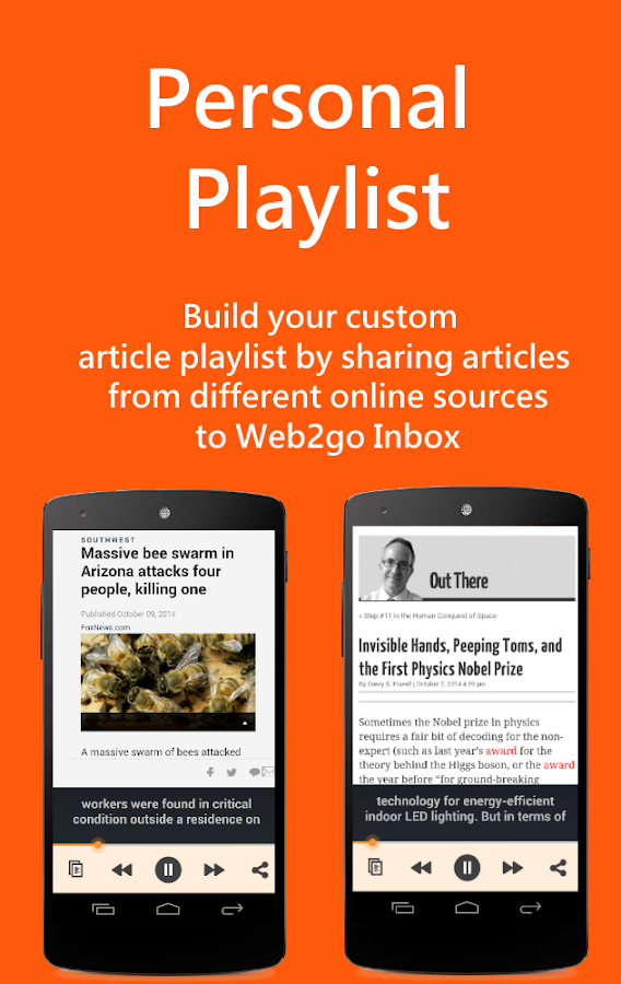 Web2go: Listen to Any Website - screenshot