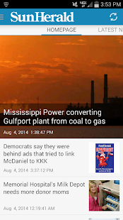 Biloxi Sun-Herald Newspaper- screenshot thumbnail