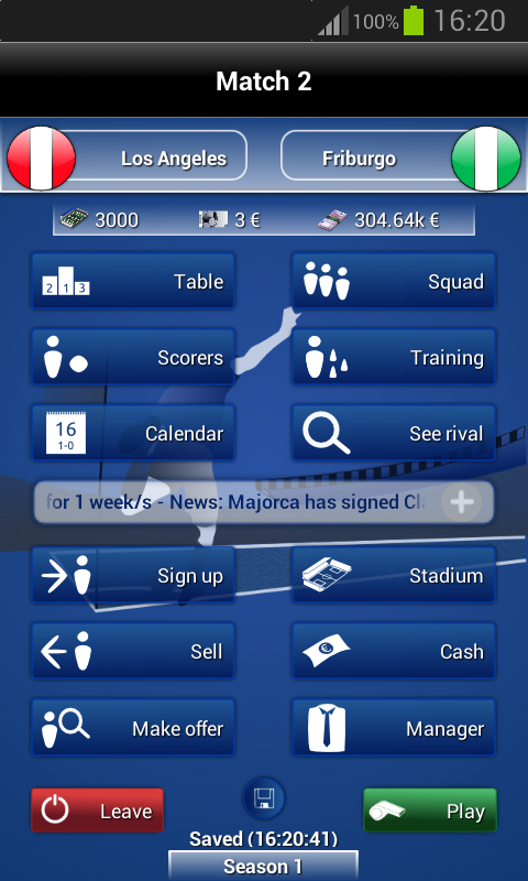 iClub Manager - screenshot