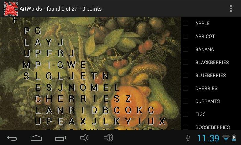 ArtWords word search- screenshot