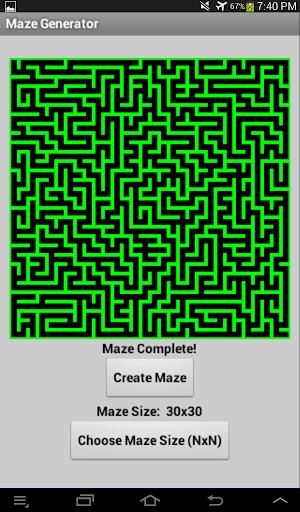 App Inventor Maze Generator
