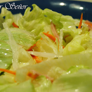 Chinese Salad with White Sweet and Sour Sauce