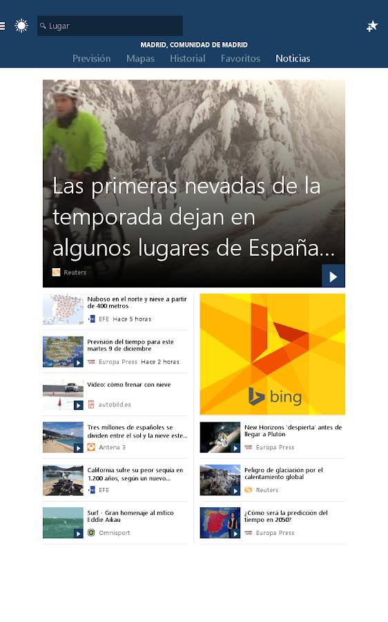 MSN El Tiempo Previsin mapa  Aplicaciones de Android en Google